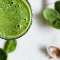 Zeleninové okurkovo-špenátové smoothie